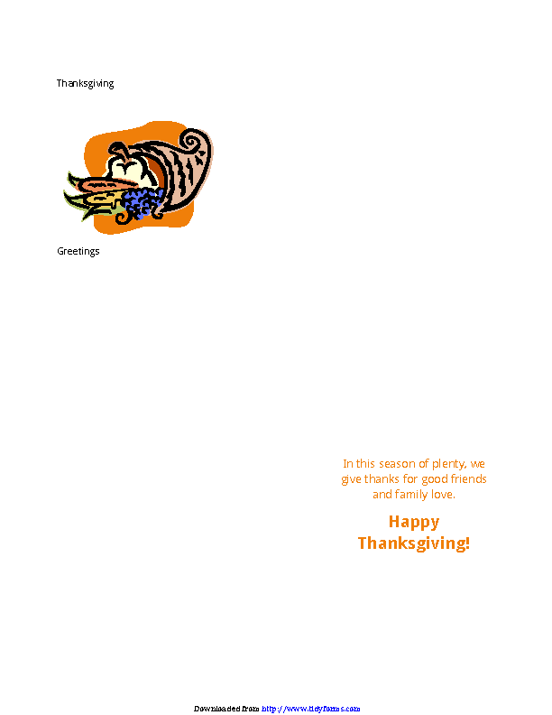 Thanksgiving Menu Template 3