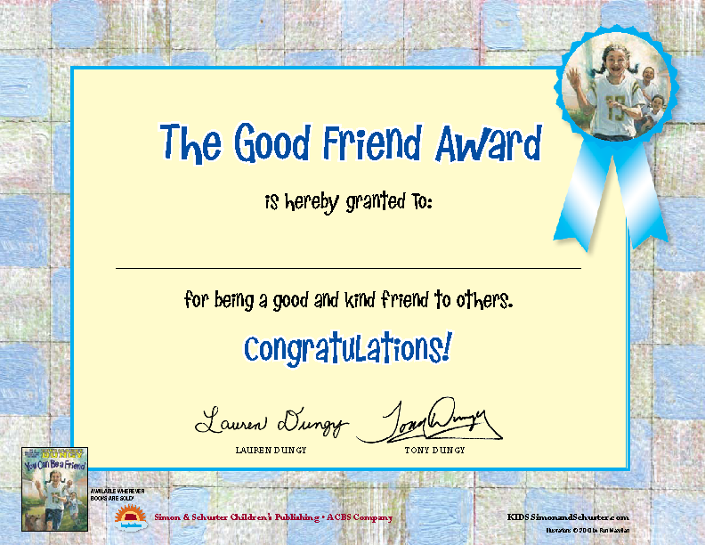 The Good Friend Award