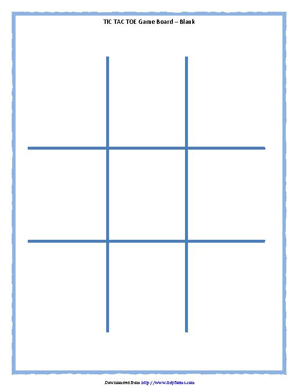 Tic Tac Toe Game Board