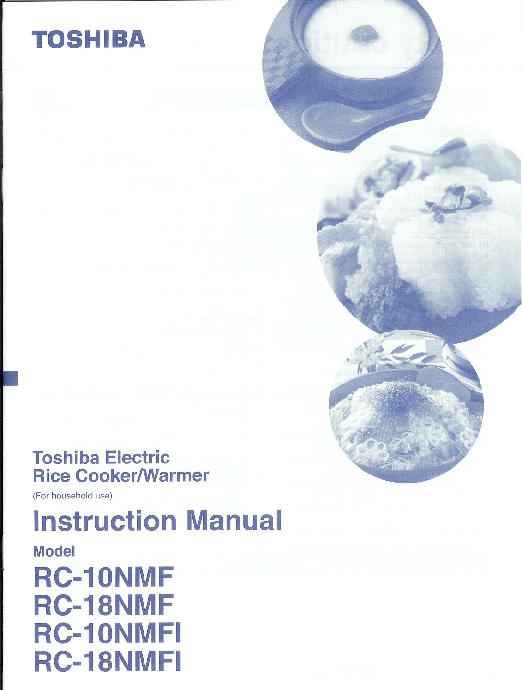 Toshiba Instruction Manual Sample