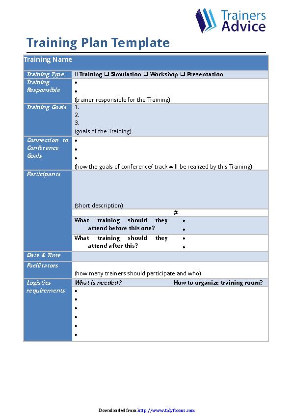 Training Plan Template 1 Pdfsimpli