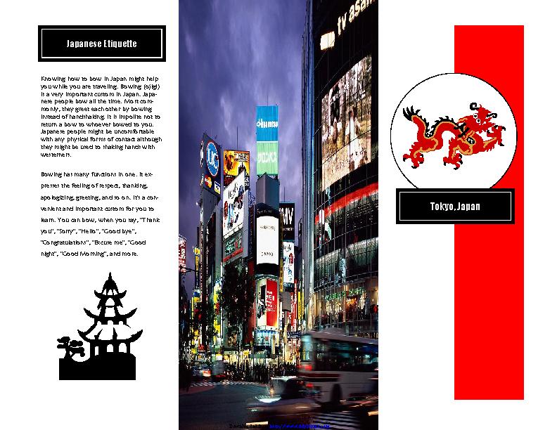 Travel Brochure Example 1