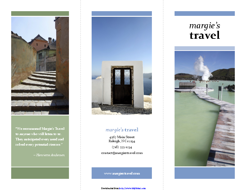 Tri Fold Travel Brochure Template 1