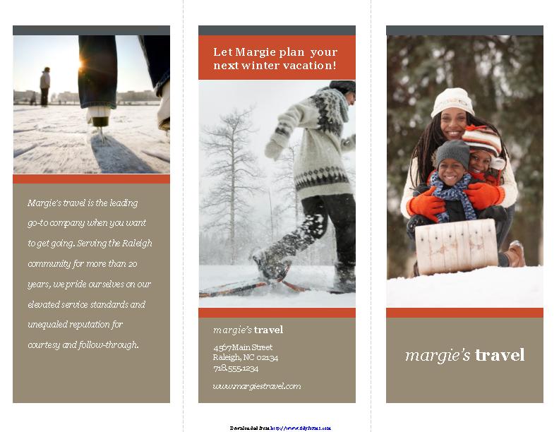 Tri Fold Travel Brochure Template 2
