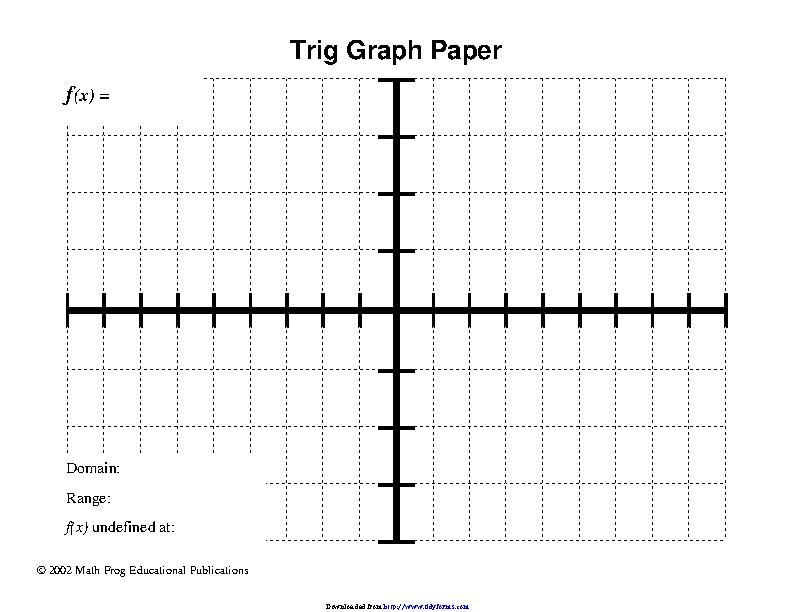 Trig Graph Paper 3