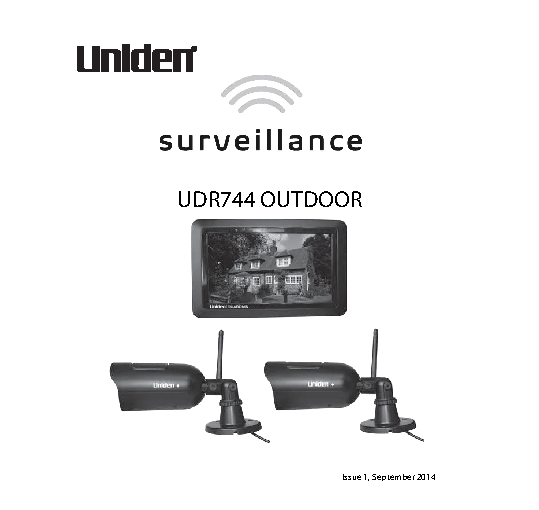 Uniden Owners Manual Sample