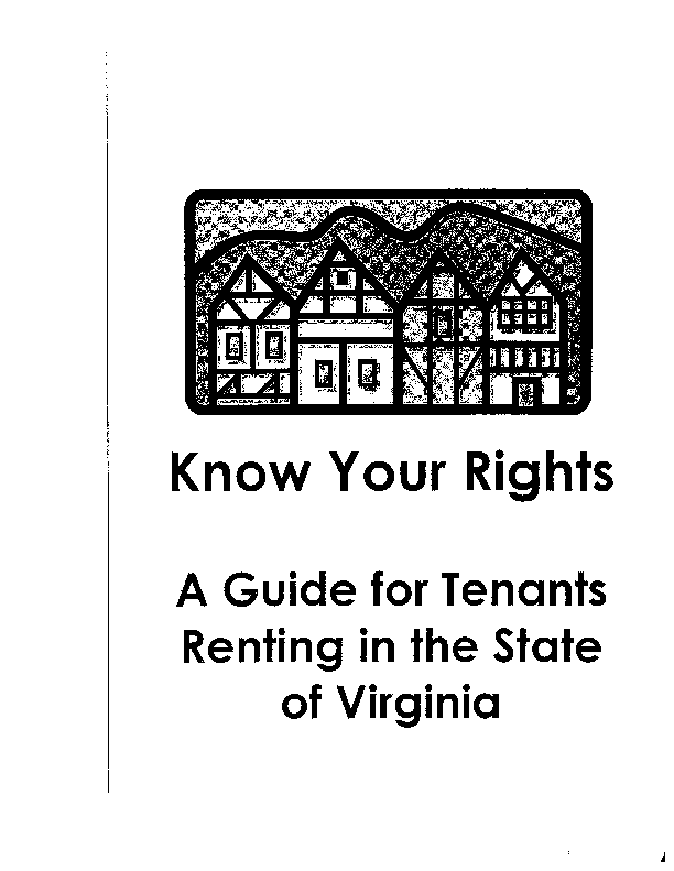 Virginia Know Your Rights Landlord Tenant