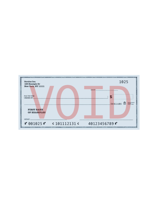 Voided Check Template