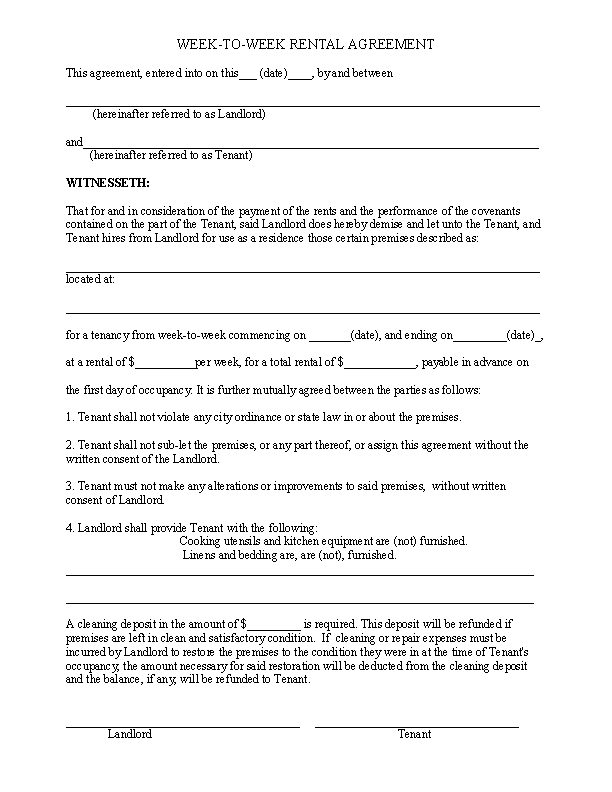Rental Agreement Archives Page 43 Of 44 Pdfsimpli