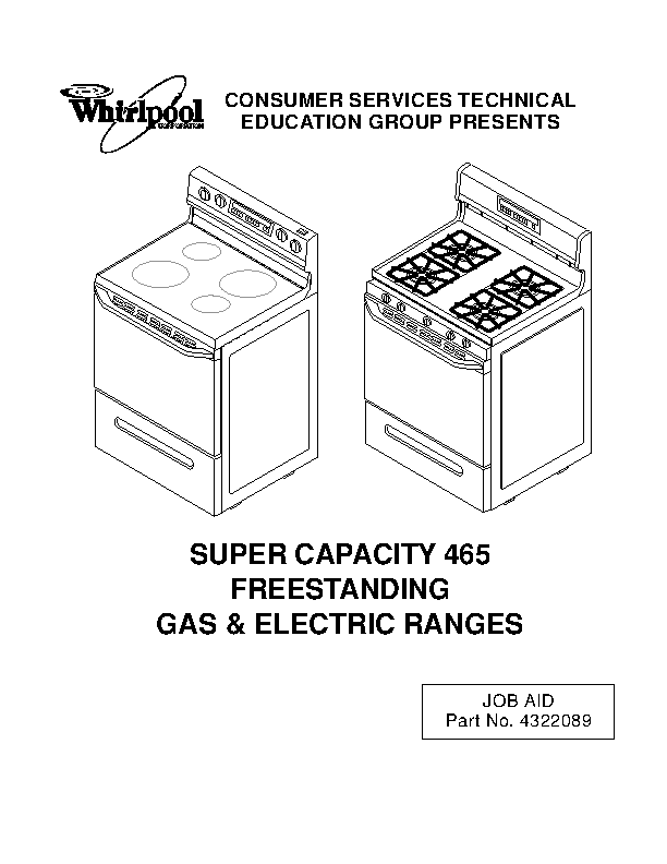 Whirlpool Owners Manual Sample