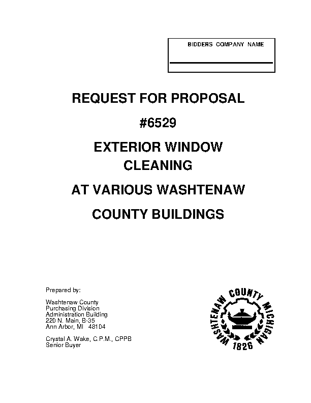 Window Cleaning Proposal Template