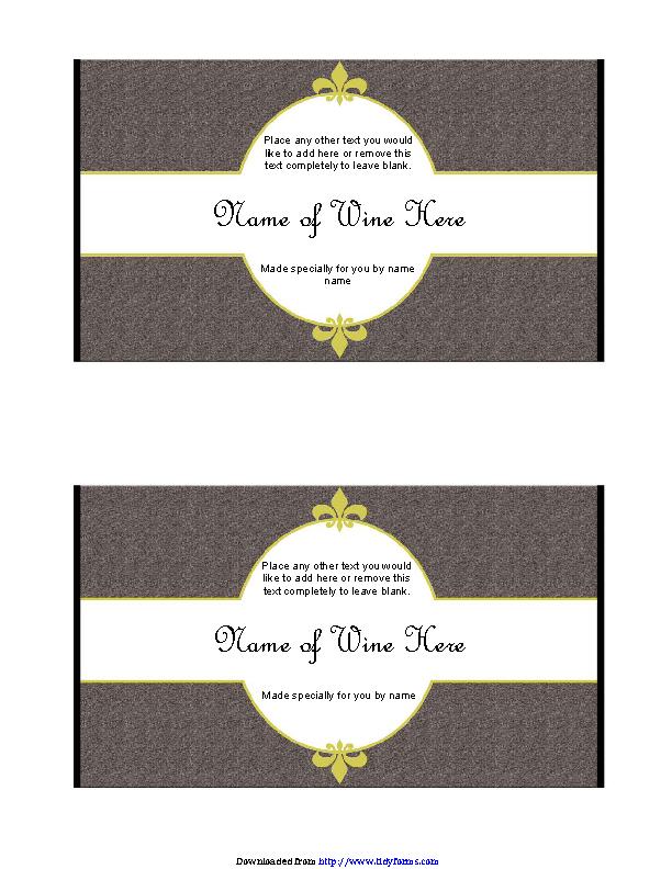 Wine Label Template 1