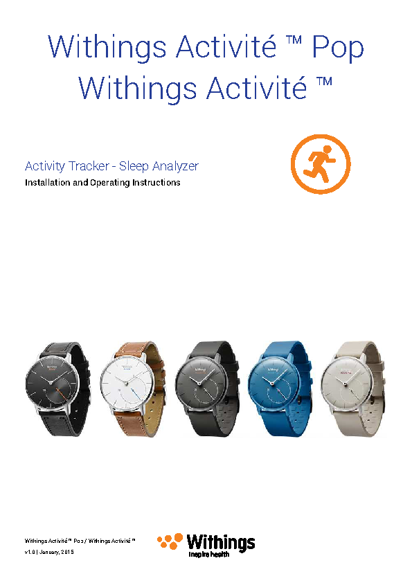 Withings Operating Instructions Sample