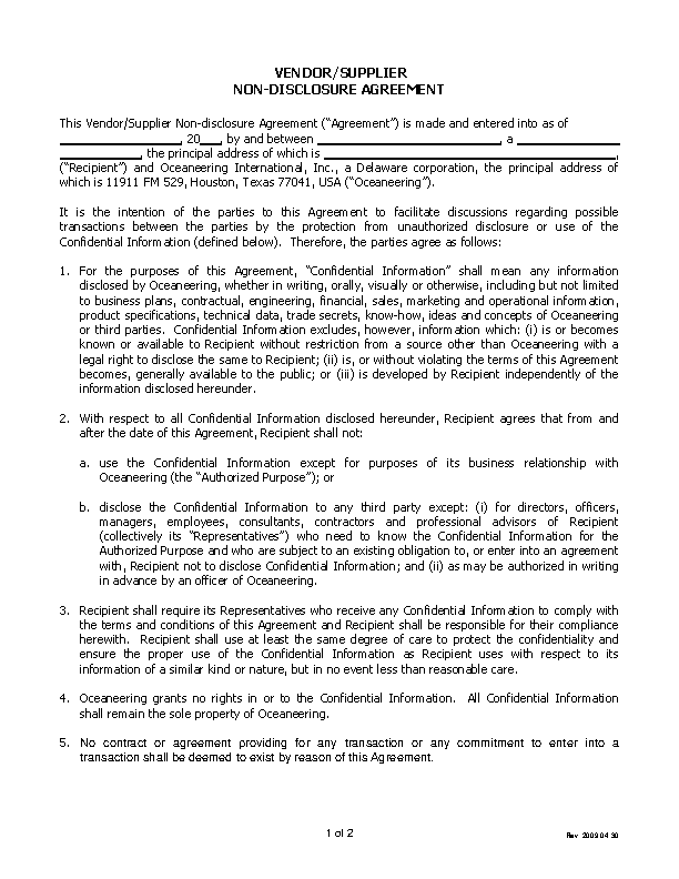 Confidentiality Agreement Archives Page 39 Of 39 Pdfsimpli