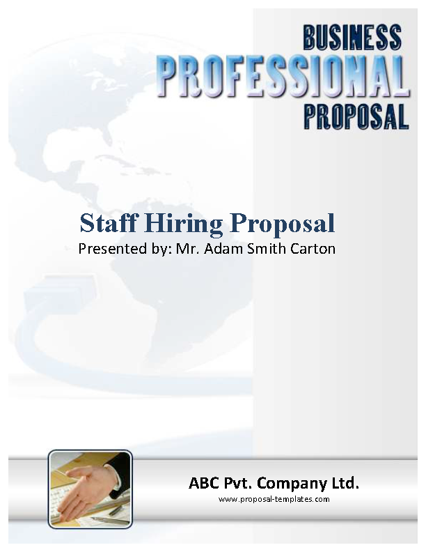 Word Format Staff Hiring Proposal Template Free Download
