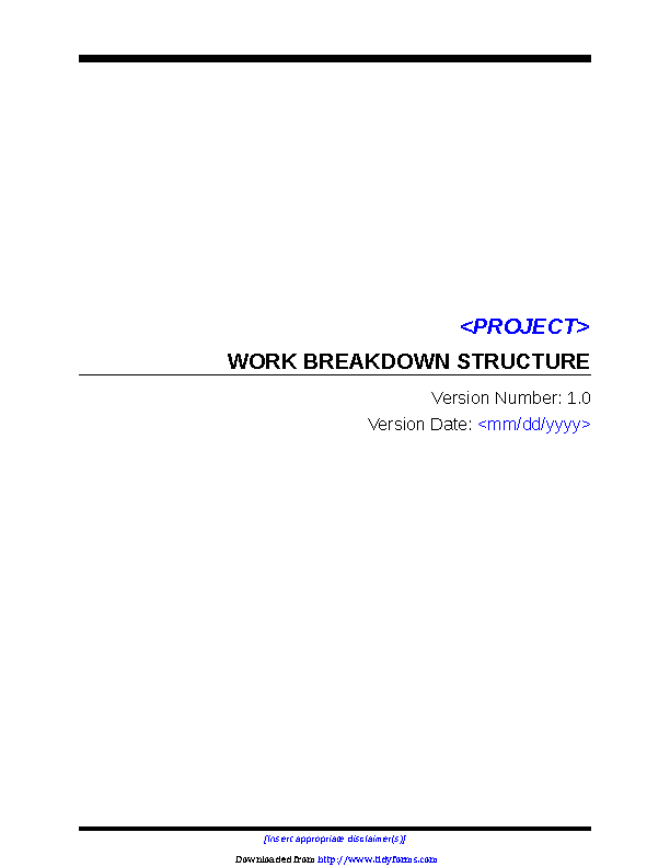 Work Breakdown Structure Template 3