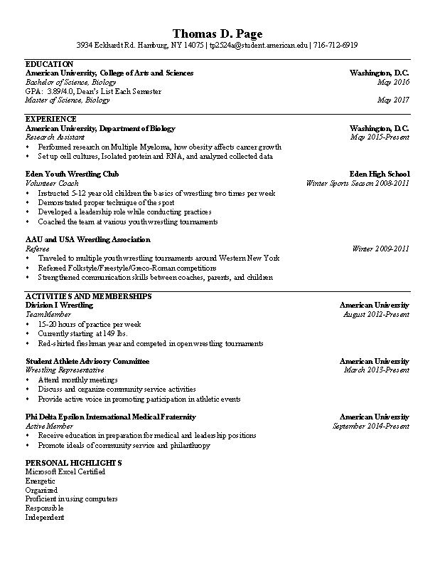 Wrestling Referee Resume