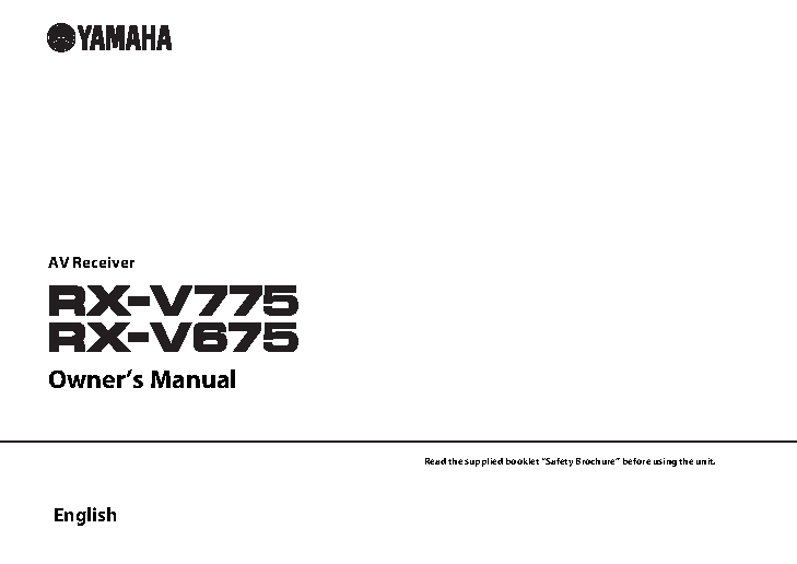 Yamaha Owners Manual Sample